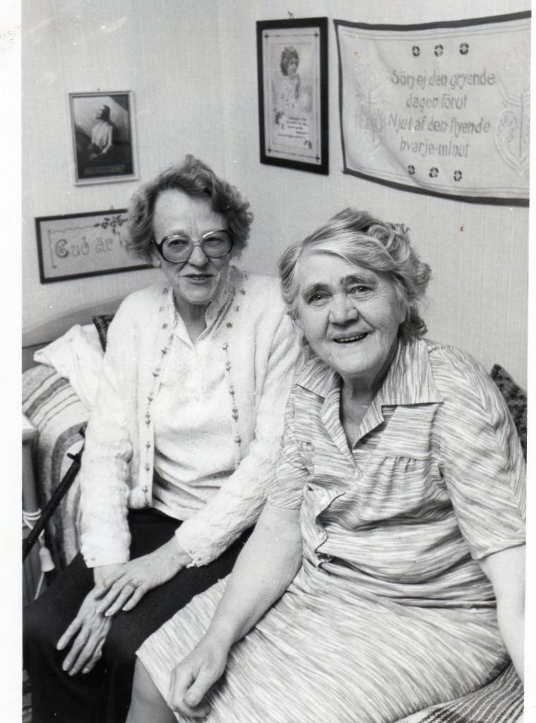 Margit with Aunt Elsa Moberg Fransson, sister of Wilhelm, 10 June 1984